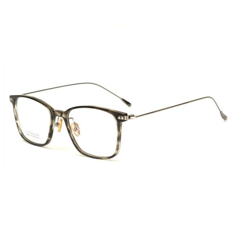 width 145 New ultra light full rim B titanium plate myopia Spectacle big face female retro men eyeglasses frames women eyewear in Men 39 s Eyewear Frames from Apparel Accessories