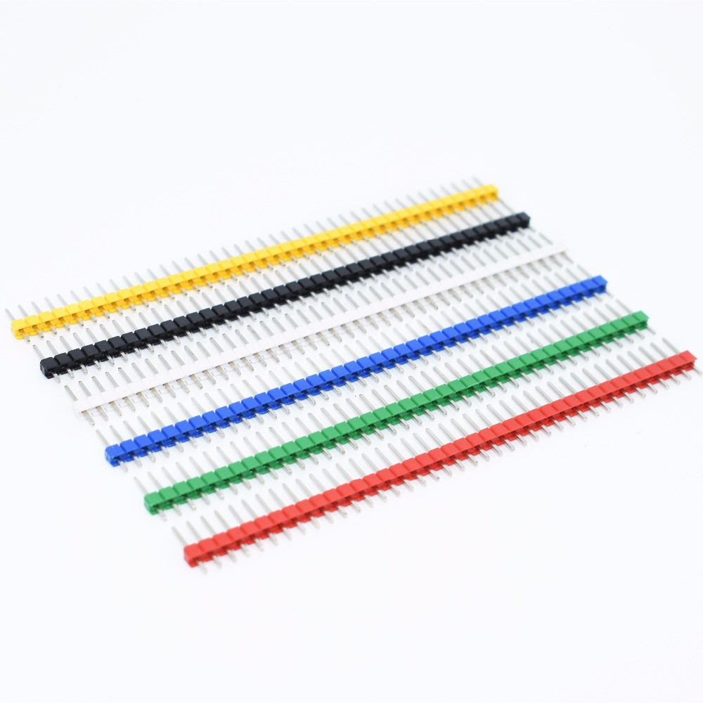 200pcs 40 Pin 1x40 Single Row Male 2.54 Breakable Pin Header Connector Strip