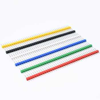 200pcs 40 Pin 1x40 Single Row Male 2.54 Breakable Pin Header Connector Strip - DISCOUNT ITEM  17% OFF All Category