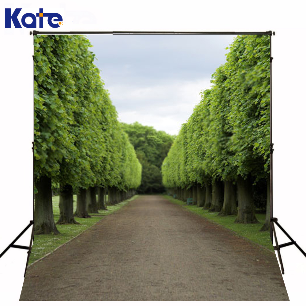 10*20Feet(300*600Cm) Photography Background Fotografia Tree Woods Road Photography Backdrops