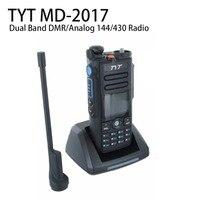 409 магазин как обычно доставка Бесплатная доставка TYT MD2017 Dual Band DMR/аналоговый 136 174 и 400 480 MHz Walkie Talkie