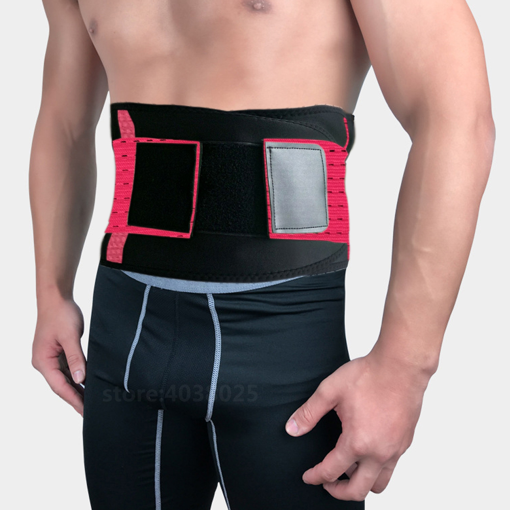 Health Care Elastic Belt Posture Corrector Brace Waist Back Lumbar Support Belt Self-heating Medical Support Bar Belt Corset Men