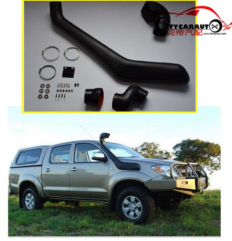 CITYCARAUTO 2012-2014 AUTO AIRFLOW SNOKEL KIT Fit FOR HILUX VIGO Air Intake LLDPE Snorkel Kit Set FIT HILUX VIGO 2012-2014 citycarauto 2007 2011 airflow snokel fit for jeep wrangler jk series 3 8l v6 air ram intake snorkel kit black
