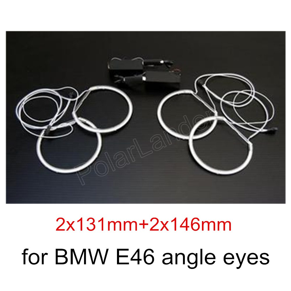 best selling hot Led RGB car angel eyes headlight colorful halo rings for BMW E46 Non projector 2x131mm+2x146mm marker new 4000b professional gravity spray gun with 1 3mm nozzle hvlp car paint gun painted high efficiency high quality
