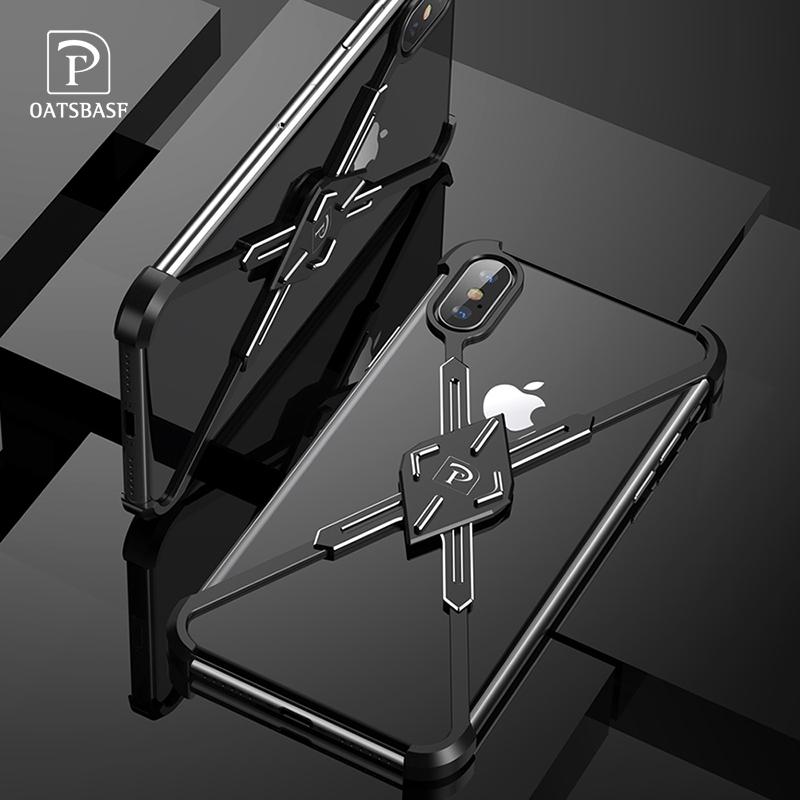 OATSBASF Saber X Shape Design Metal Case For IPhone XS MAX Case Personality Back Cover For IPhone XS MAX Shockproof Shell Bumper