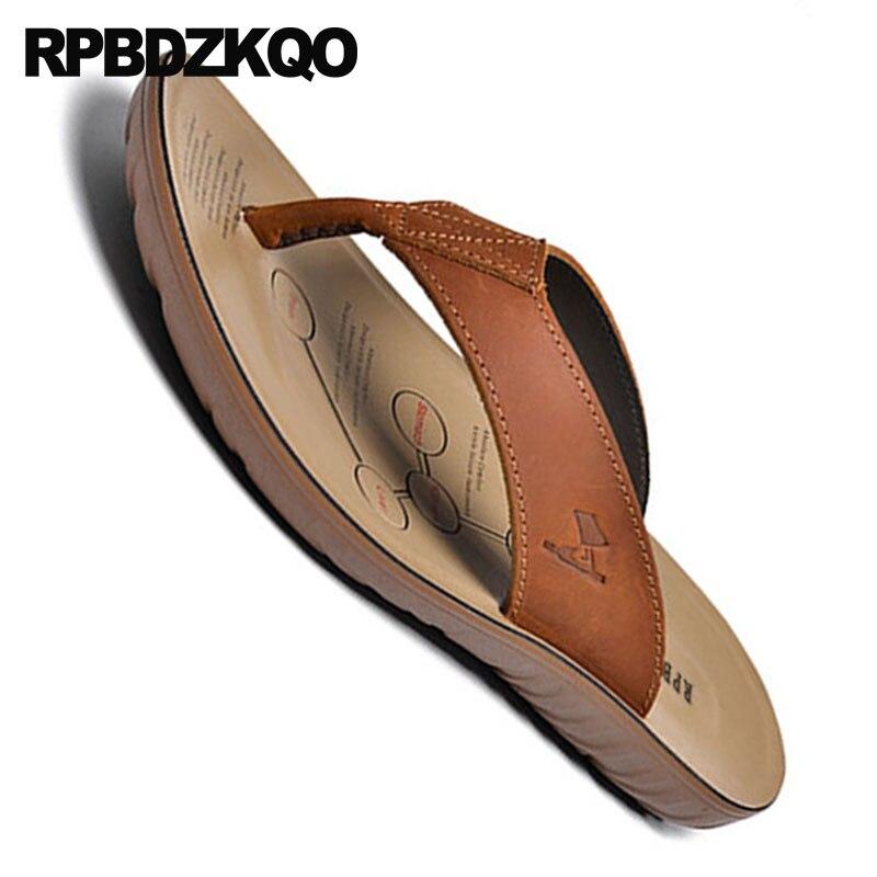 Alta Slides Ao Sandálias Grife Brown Agua Sapatos Qualidade Dedo Verão Marrom Chinelos Ar De Chinelo Livre Nativo Luxo Couro Homens Suave Castanho Praia red TcZHrT0pg