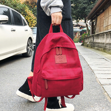 DCIMOR Fashion Plaid women backpack student schoolbag for Teenage girls cotton Travel bag Female Bookbag Mochilas