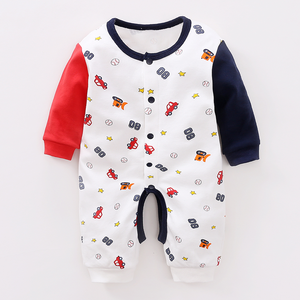 YiErYing Baby Jumpsuits Clothes Spring and Autumn Outfit Pure Cotton Newborn Cartoon Conjoined Romper