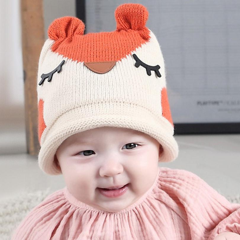 2016 Cartoon owl wool Autumn Baby Child knitted hat kids girls Earflap Caps Age for 1-5 years old MZ4052