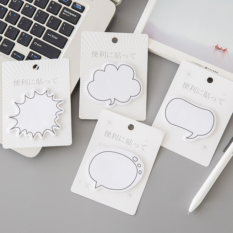 Kawaii Stationery Memo Pads Cute Dialog Box Paper Sticker Sticky Note Page Marker Planner For Kids School Supplies