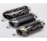 36 51mm Real Carbon Fiber Motorcycle Exhaust Pipe Motocross Muffler CB400 CBR1000rr Z800 Z750 ER6R zx6r s1000rr gsxr750 R1 R6