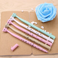 4 Pcs / Pack 0.5mm Cute Candy Color Bow Cat Gel Ink Pen Maker Pen School Office Supply Escolar Papelaria