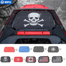 MOPAI 2/4 Door Car Roof Mesh Bikini Top Sunshade Cover UV Sun Shade for Jeep Wrangler JK 2007-2017 Accessories Styling