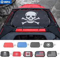 MOPAI 2 Door Car Polyester Roof Mesh Bikini Top Sunshade Cover UV Sun Shade Mesh For Jeep Wrangler 2007 2017 Car Styling