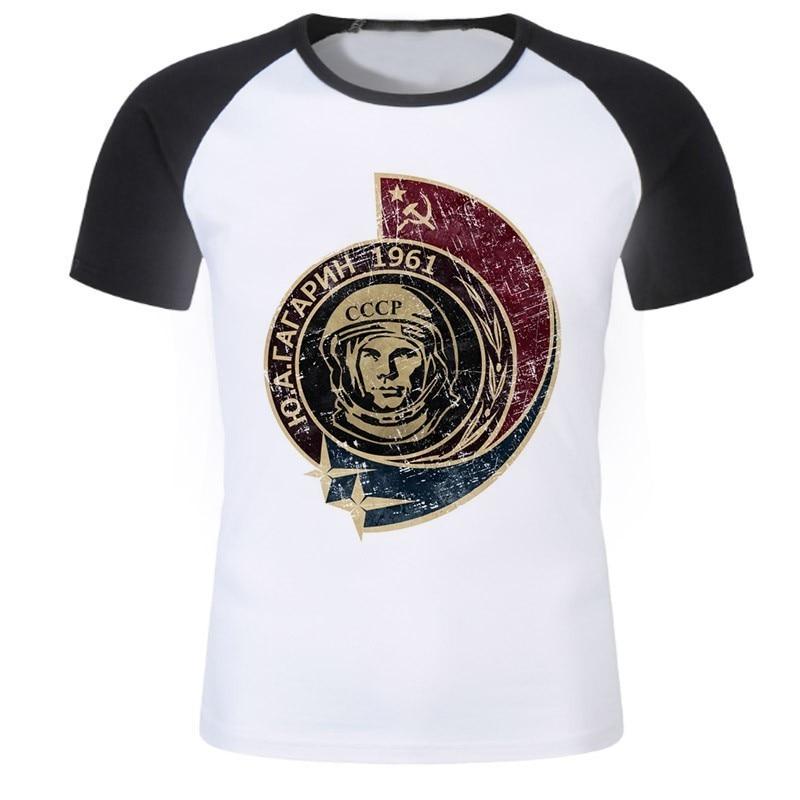 Funny USSR CCCP   Shirt   Casual   T     Shirt   Men 2018 Tops High quality The Soviet Union Russia Space Male Tshirt Top Tees   T  -  shirt