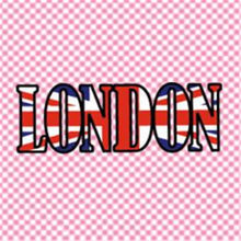 T shirt women heat transfer printing LONDON flag pvc patch for clothes iron on transfer patches for clothing girl 3D stickers(China)