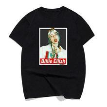 Billie Eilish Streetwear Mens T-Shirt Summer O-neck Cotton Black Short Sleeve Hot 2018 MenS T Shirt Fashion Top Tee