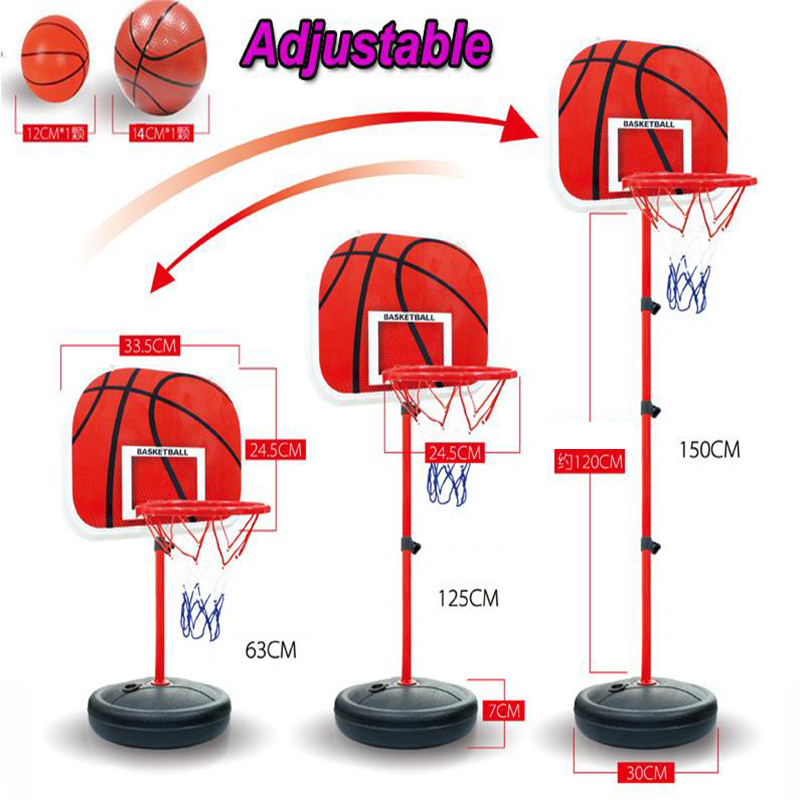 akitoo 1421 150cm Basketball Outdoor Indoor Sports Basketball Basket Frame Children Cast Iron Lifting Basketball Frame 2 Ball