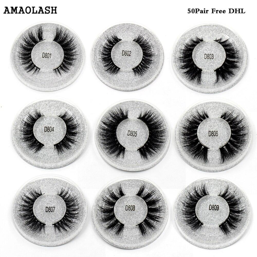 все цены на AMAOLASH Free DHL Eyelashes Mink Lashes Cross Thick Long Lasting Mink EyeLashes Handmade Extension Natural False Lashes 50Pairs онлайн