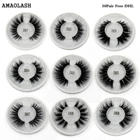 AMAOLASH Free DHL Eyelashes Mink Lashes Cross Thick Long Lasting Mink Eyelash Handmade Extension Natural False Lashes 50Pairs