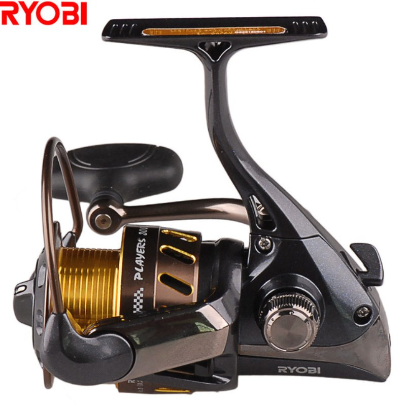 лучшая цена RYOBI PLAYERS (Zauber) 5.0:1 5.1:1 8+1BB 1000 4000 Size Spinning Fishing Reel 2.5kg-5kg Aluminum Alloy Body Switchable Handle
