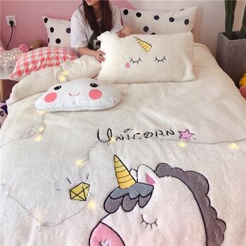 Unicorn Fleece Bedding Set