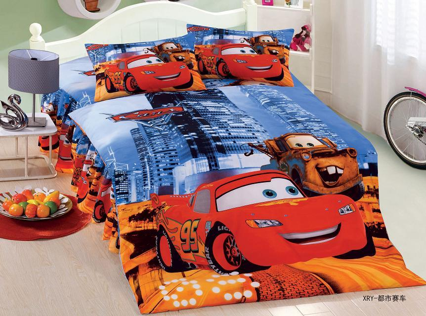 Cartoon Lightning Mcqueen Cars Bedding Sets Children Bedroom Decor Single Twin Size Bed Sheets Quilt Duvet Covers 3pcs No Filler