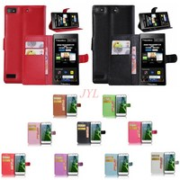 IMIDO Wallet Stand Flip Cover For BlackBerry Z3 PU Leather Magnetic With Card For BlackBerry Z3