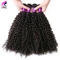 Лучших Бразильских Вьющиеся Волосы Девственницы 4 Связки Afro Kinky Вьющихся Волос Бразильский Девственные Волосы Курчавые Вьющиеся Переплетения Человеческих Волос