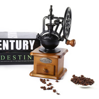 Retro Ferris Wheel Manual Coffee Grinder Machine Wooden Hand Handmade Burr Coffee Mill Grinding Machine Hand