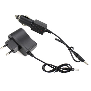 Image 2 - AC Power Charger Adapter Port To 18650 Battery Flashlight Headlamp Supply Converters Wire EU US UK Car Plug Free shipping