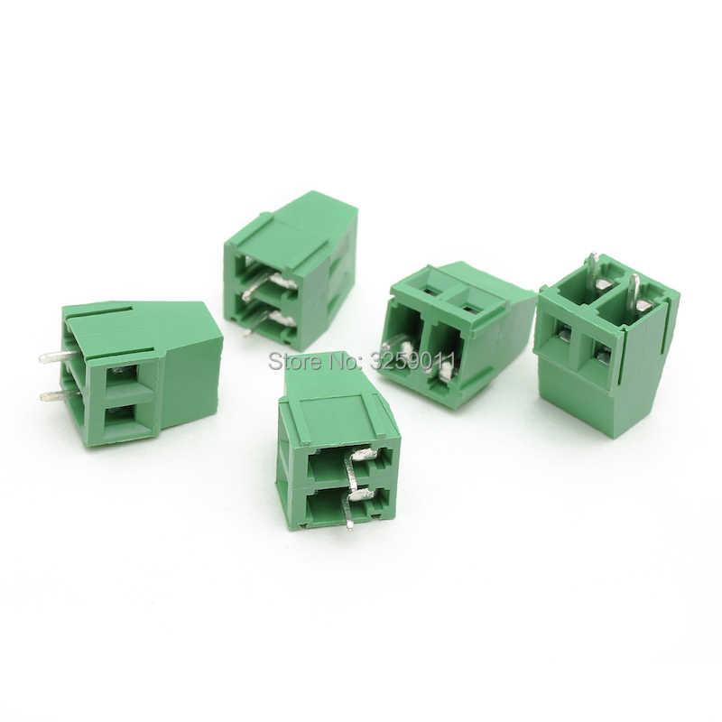1 pièces PCB vis universel bornier connecteur pas 5.0 MM 2PIN 300 V 10A 5.0mm KF 128-5.0-2P fer vert 22-12 AWG