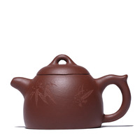 100ML Purple sand teapot undressed kung fu carved handmade pot creative drinkware suit black tea puer