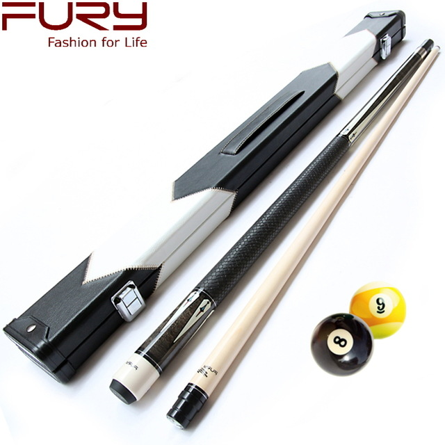 Brand Fury Professional Billiard Pool Cues Billiards Cue Case Stick 12.75mm Tips Taco De Billar Black 8 free shipping Model DL
