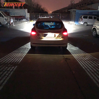 Attractive Universal White Red Angel Wings LED Welcome Light For Car SUV Motorcycle 12V 24V