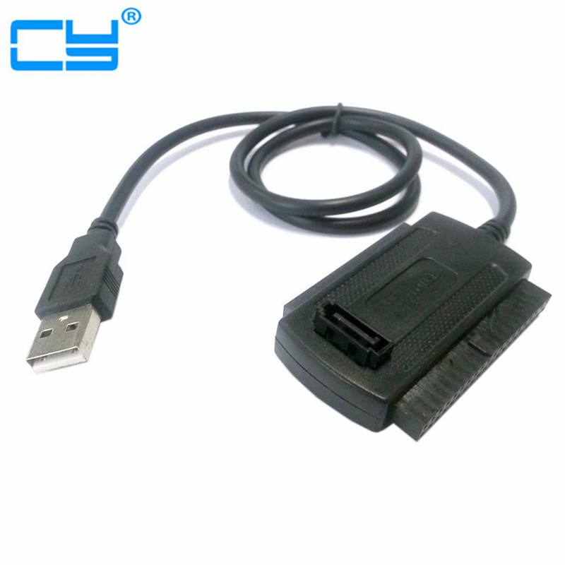 US Plug 3in1 USB 2.0 To IDE SATA S-ATA ATA 2.5 3.5 Hard Drive HD HDD Converter Adapter Cable for Windows 2000 XP Vista WIN7 WIN8
