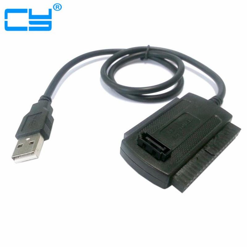 US Plug 3in1 USB 2.0 To IDE SATA S-ATA ATA 2.5 3.5 Hard Drive HD HDD Converter Adapter Cable for Windows 2000 XP Vista WIN7 WIN8 корпус для hdd orico 9528u3 2 3 5 ii iii hdd hd 20 usb3 0 5
