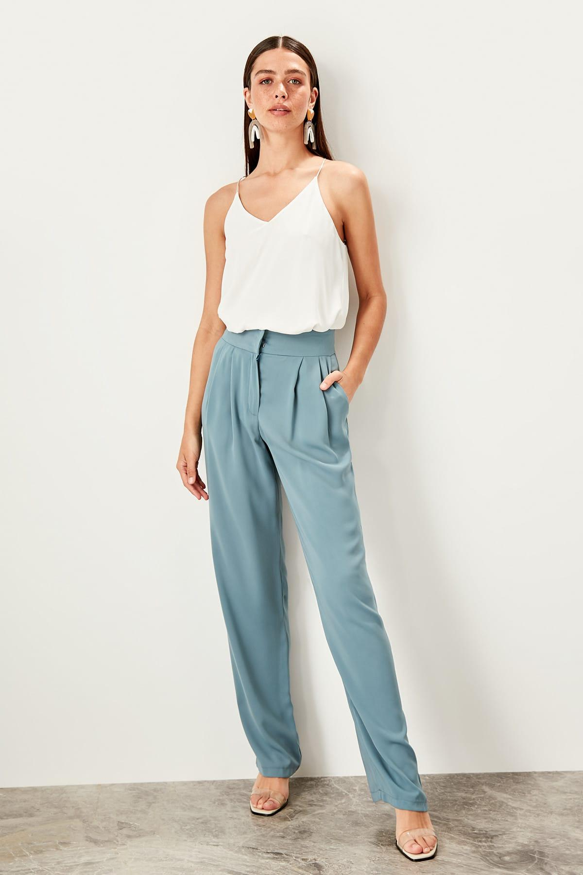 Trendyol Mint Flare Pants TWOSS19WX0110