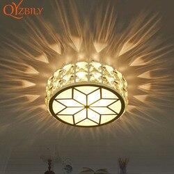 Oświetlenie sufitowe Led kryształowe światło/lampa wpuszczana 6W do salonu oświetlenie led do pokoju oprawa oświetleniowa oświetlenie domu lamparas de techo cristal
