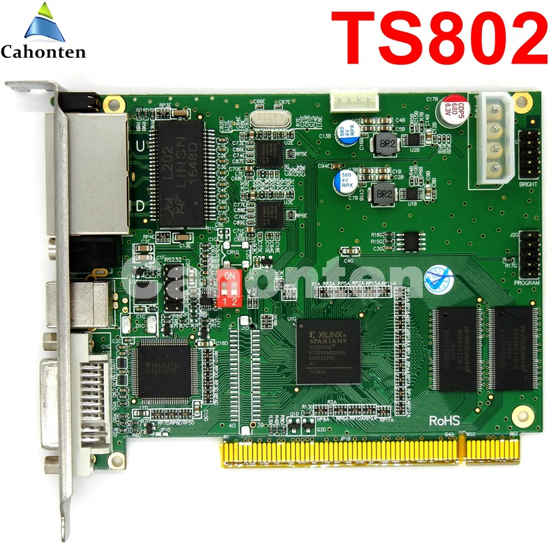 все цены на LINSN TS802 Full Color Sending Card RGB synchronous sender LED control card for p3,p4,p10,p6,p16,p20 LED Video TV Wall display онлайн