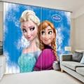 3d Cartoon Frozen Blackout Curtain Custom Children's Curtain for Window Living Room Accept Your Photo