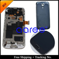 Free shipping 100% tested Original For Samsung Galaxy S4 mini i9190  i9195 LCD Digitizer Assembly frame + Back Cover