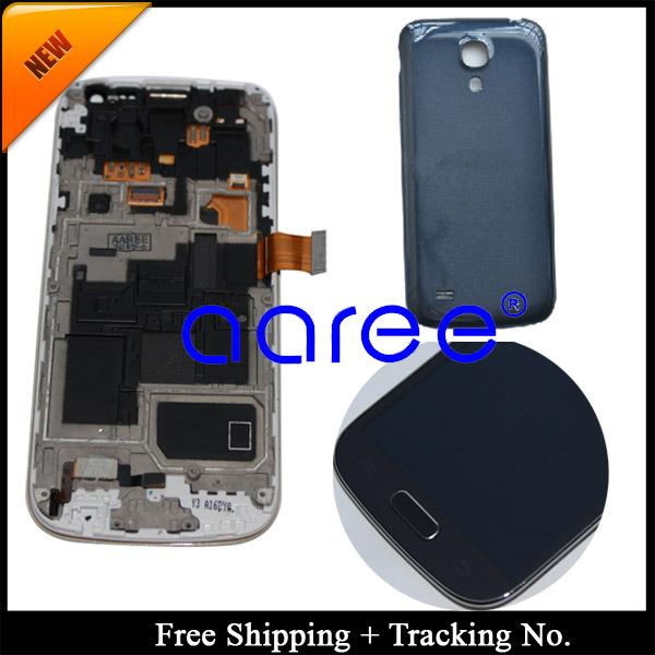Prix pour Livraison gratuite 100% testé Pour Samsung Galaxy S4 mini i9190 i9195 LCD Digitizer Assemblée cadre + Couverture Arrière