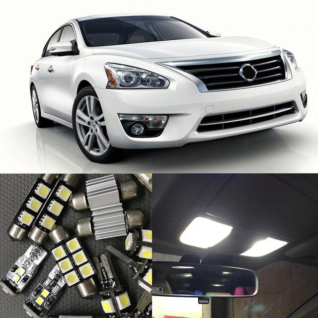 10pcs White Led Light Bulbs For 2007 2008 2009 2010 2011 2012 Nissan