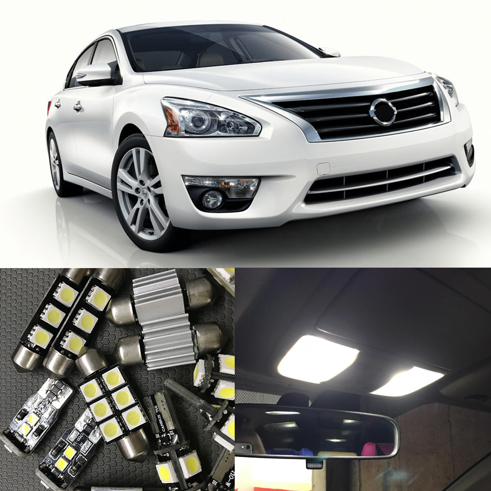 Popular white nissan altima buy cheap white nissan altima lots 10pcs white led light bulbs for 2007 2008 2009 2010 2011 2012 nissan altima sedan interior vanachro Images
