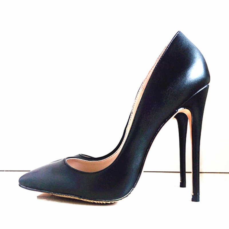 ФОТО Wedding Women Pumps High Heels Pointed Toe New Style 8CM-12CM PU Leather Party Sexy Thin Apricot Color Bottom Sole Heels Pumps