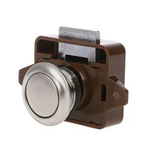 Image 2 - 1 Pc Car Push Lock RV Caravan Boat Motor Home Cabinet Drawer Latch Button Locks For Furniture Hardware Accessories