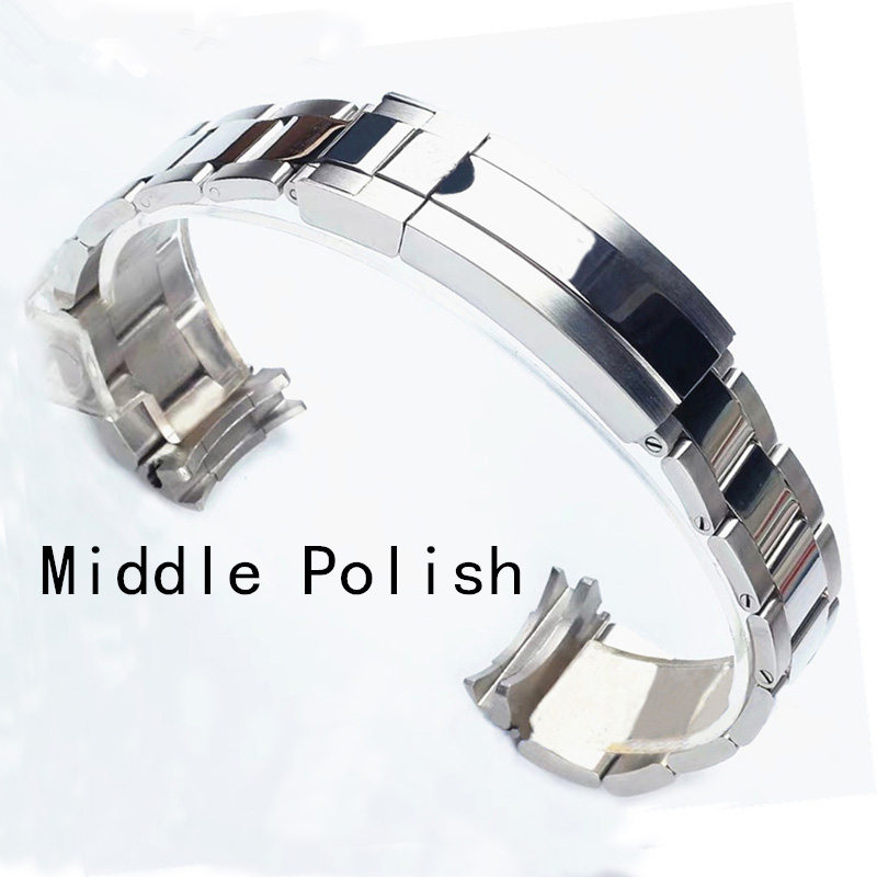 Image 4 - Brands 20mm Brushed Polish Silver Stainless steel Watch Bands Strap For RX Daytona Submarine Role Sub mariner Wristband Bracelet-in Watchbands from Watches