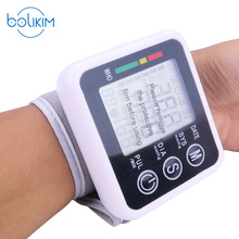 BOLIKIM Brand Health Care Automatic Digital Wrist Blood Pressure Monitor Meter Cuff Blood Pressure Monitor Sphygmomanometer