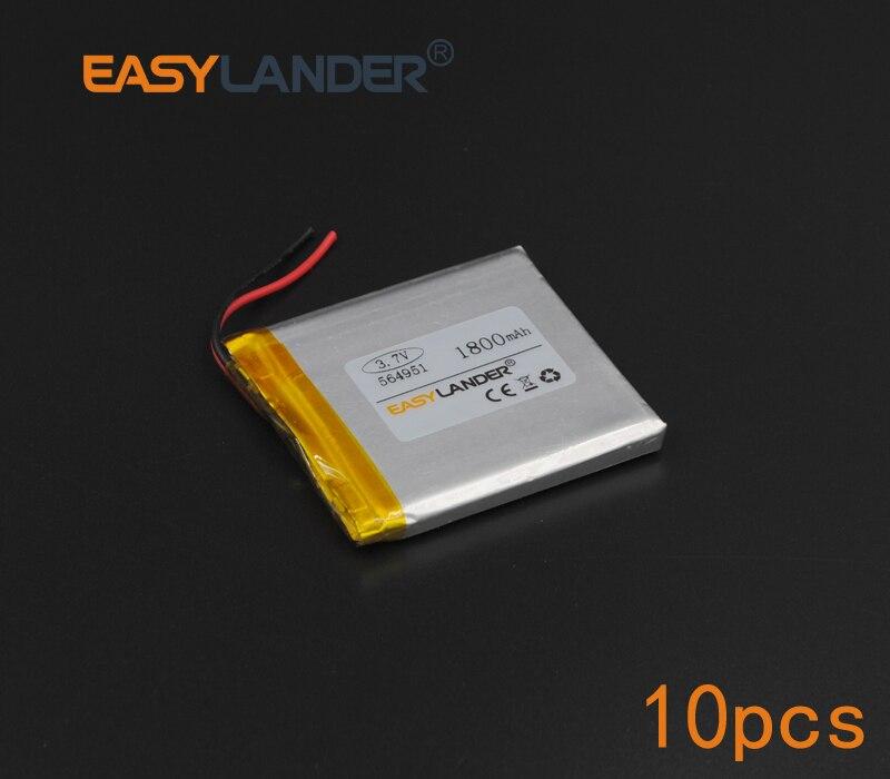 10pcs/Lot 3.7V 1800mAh Rechargeable li Polymer Li-ion Battery For part Speaker Flash lighting Oticon Streamer safety lamp 564951